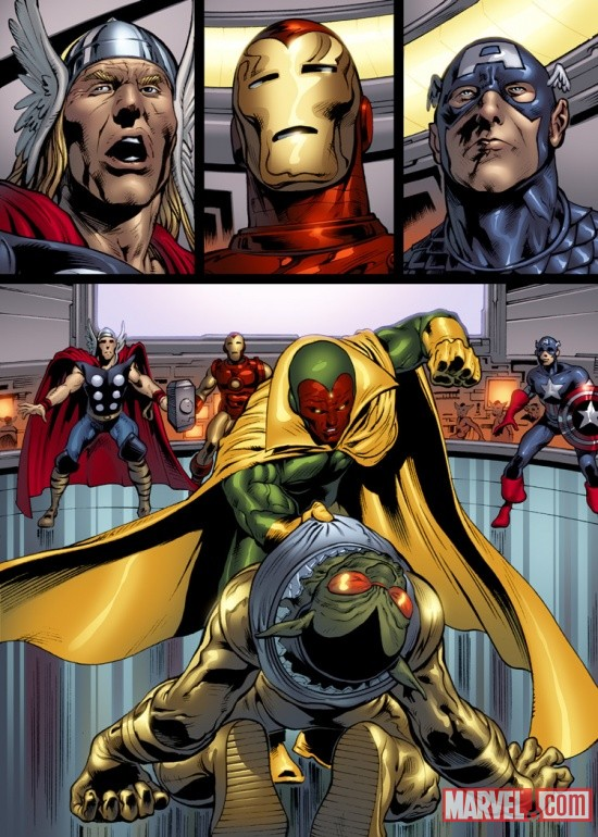The Avengers: Kree-Skrull War art by Manuel Garcia, Andrew Currie, Sandu Florea, Alvaro Lopez &amp; Ian Hannin 