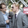Michael Fassbender (Magneto) and Marvel Comics Senior Editor Nick Lowe at the 'X-Men: First Class' red carpet event in NYC