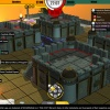 Screenshot of combat from HeroClix Online