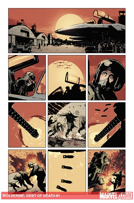 Wolverine: Debt of Death preview art by David Aja