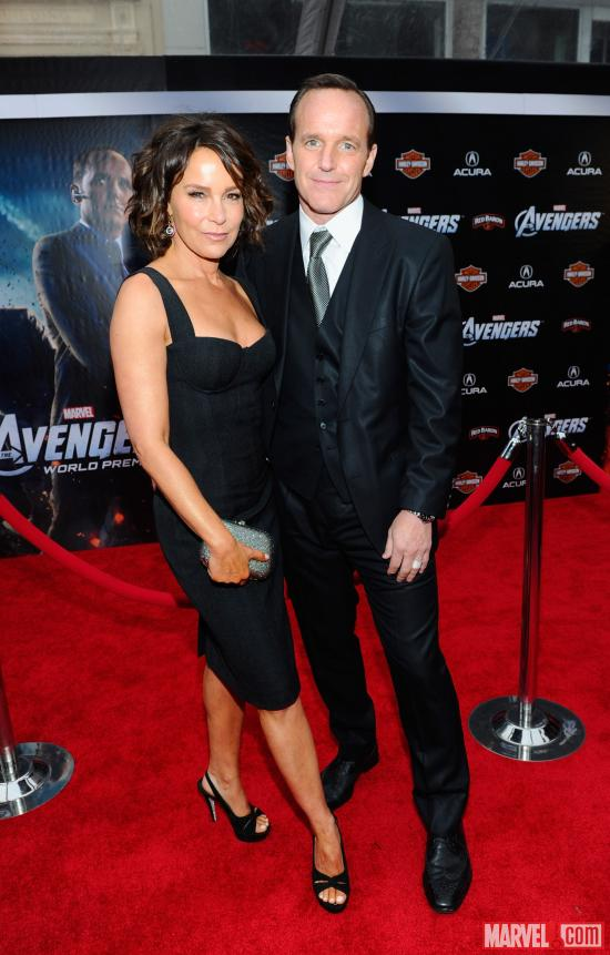 Clark Gregg &amp; Jennifer Grey on the Avengers red carpet