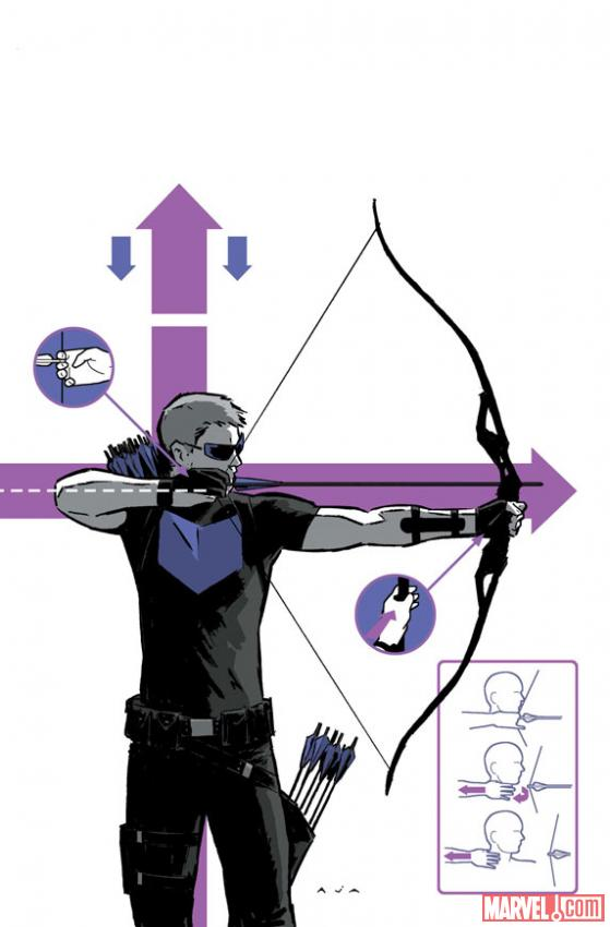 Hawkeye #2 cover art preview by David Aja