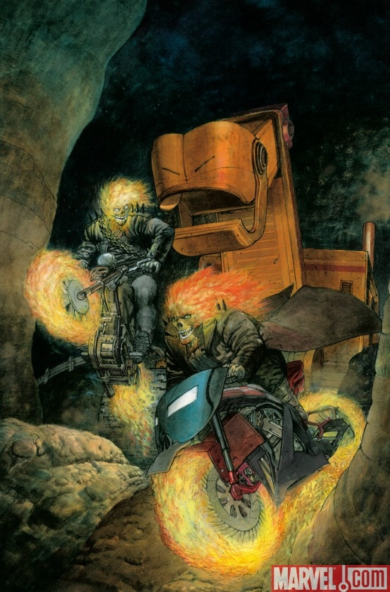 GHOST RIDERS: HEAVENS ON FIRE #3 cover by Dan Pastoras