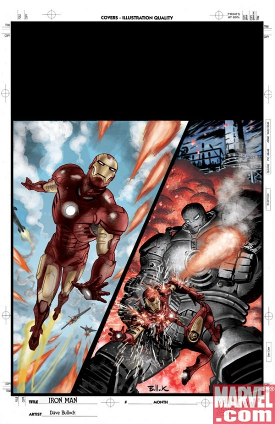 IRON MAN  FAST FRIENDS  1  amp   2 cover art by Dave BullockIron Man 2 Cover Art