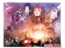 Image Featuring Speed, Hulkling, Iron Man, Patriot, Scarlet Witch, Vision, Wiccan, Young Avengers