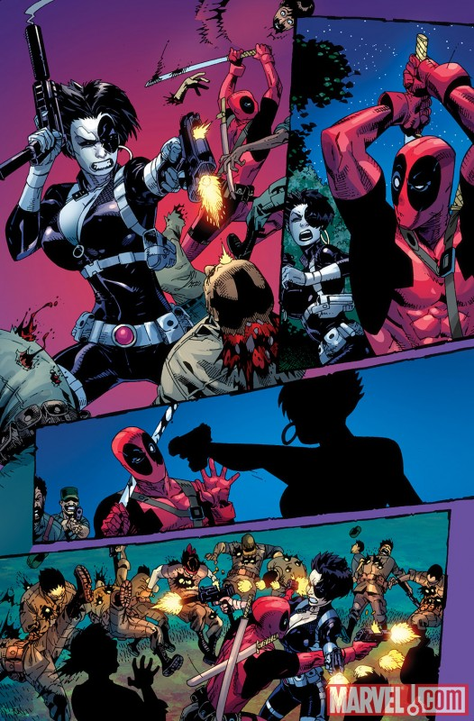DEADPOOL: WADE WILSON'S WAR #1 preview art by Jason Pearson 2