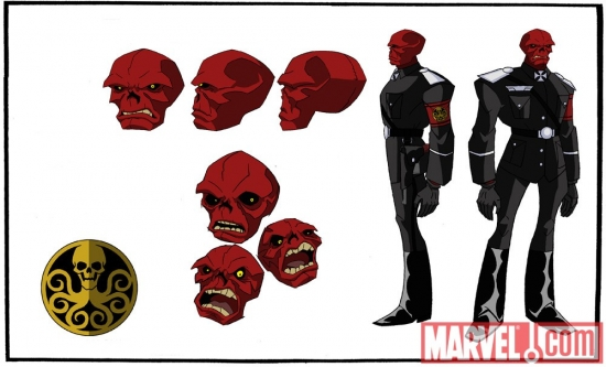 Final color art for the Red Skull from 'The Avengers: Earth's Mightiest Heroes!'