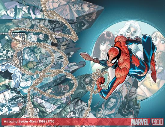 Amazing Spider-Man #700 cover by Humberto Ramos