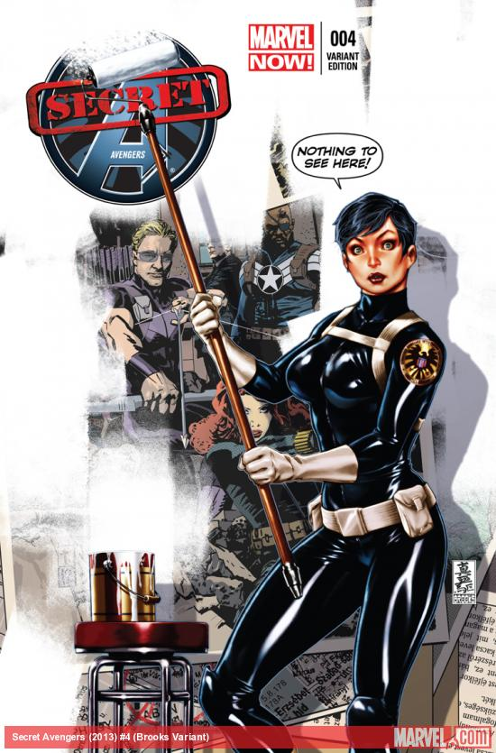SECRET AVENGERS 4 BROOKS VARIANT (NOW, WITH DIGITAL CODE)