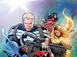 Image Featuring Spider-Woman (Jessica Drew), Spider-Man, Wolverine, Valkyrie (Samantha Parrington), Edwin Jarvis, Avengers, Black Widow, Captain America