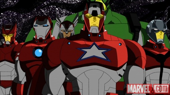The Avengers suited up in The Avengers: Earth's Mightiest Heroes!