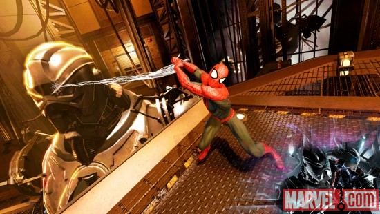 Screenshot of the Amazing Spider-Man from Spider-Man: Edge of Time