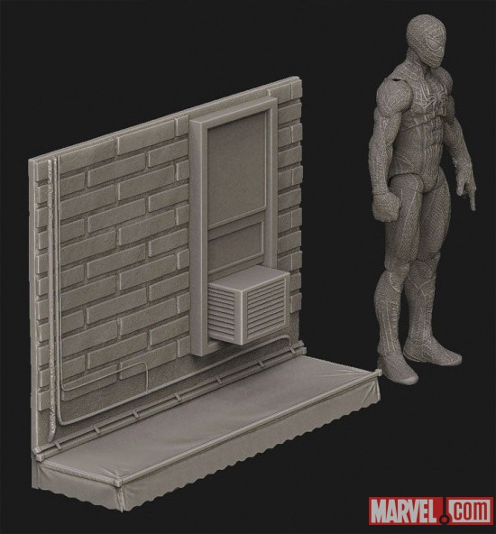 The Amazing Spider-Man Mountable Display Base (Digitally Sculpted by Gentle Giant Studios)