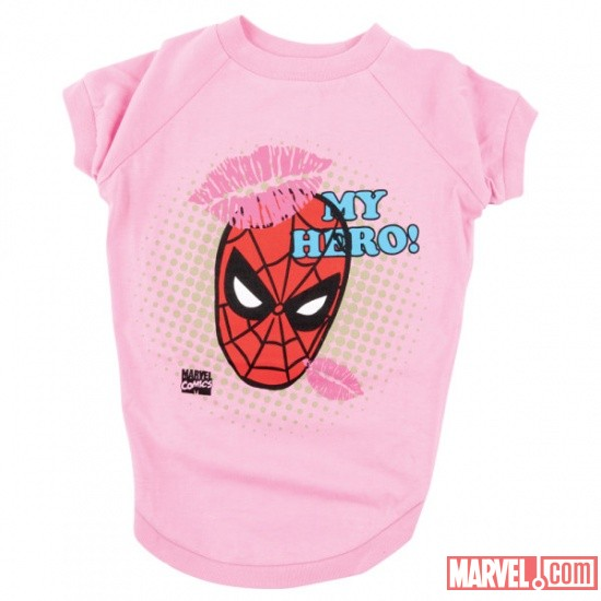 Spider-Man Pink Dog Tee by Fetch available at PetSmart