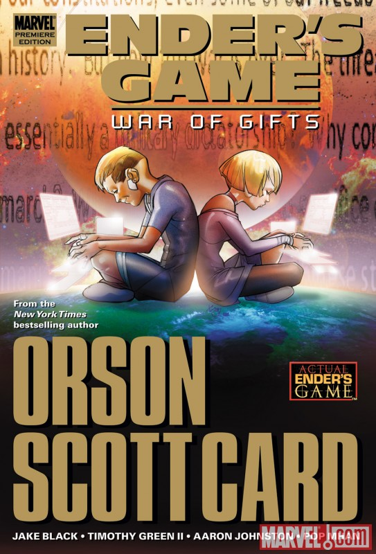 ENDER'S GAME: WAR OF GIFTS hardcover collection cover by Pasqual Ferry