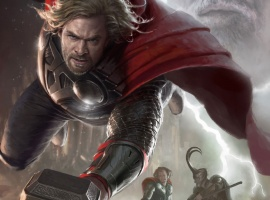 Thor SDCC 2011 exclusive concept art poster