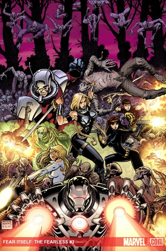 Fear Itself: The Fearless #3 cover by Art Adams