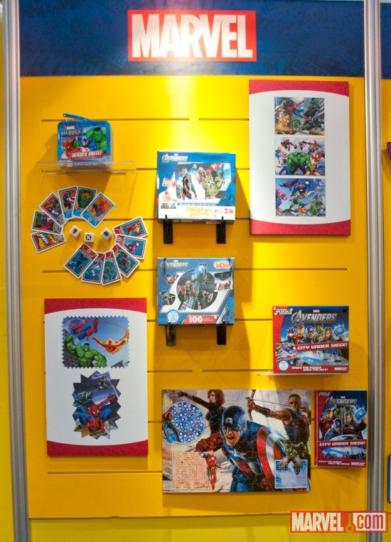 Fundex puzzles and card game display