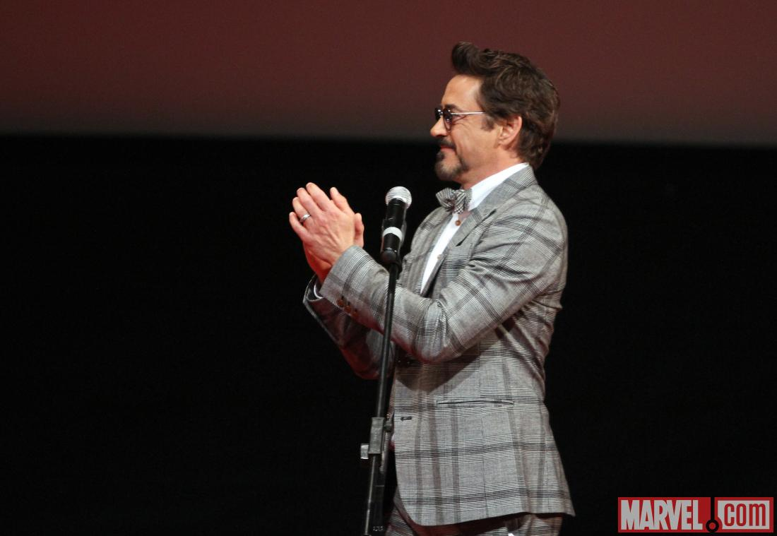 Robert Downey, Jr. at the Moscow premiere of Marvel's The Avengers