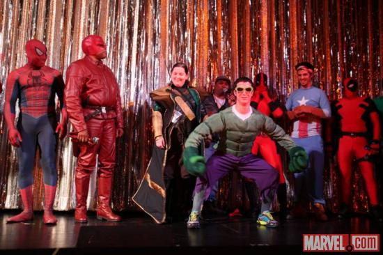 Marvel cosplayers at El Capitan Theatre's midnight screening of Marvel's The Avengers