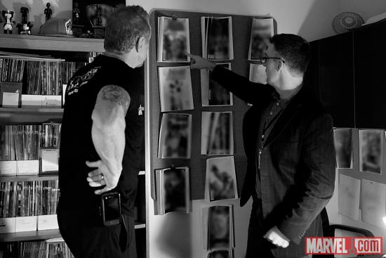 Diamond Dallas Page with Marvel Comics editor Bill Rosemann at Marvel HQ