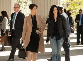 Carrie-Anne Moss and Krysten Ritter star in 'Marvel's Jessica Jones' for Netflix
