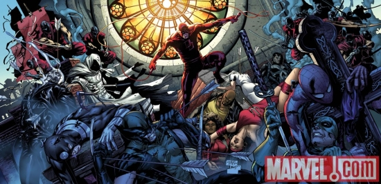 Image Featuring Spider-Man, Wolverine, The Hand, Bullseye, Misty Knight, Luke Cage, Daredevil, Elektra, Ghost Rider (Johnny Blaze), Iron Fist (Danny Rand), Moon Knight
