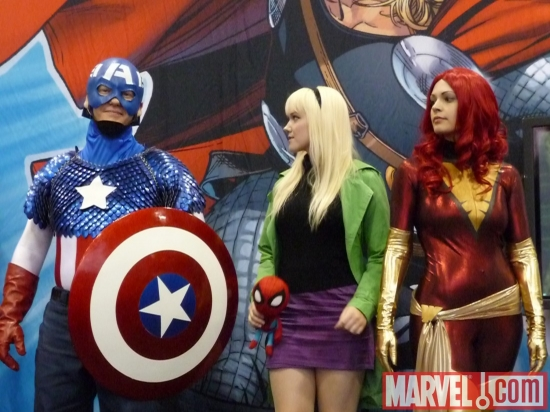 Image Featuring Captain America, Jean Grey