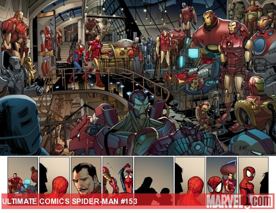 Ultimate Comics Spider-Man #153 preview art by David Lafuente