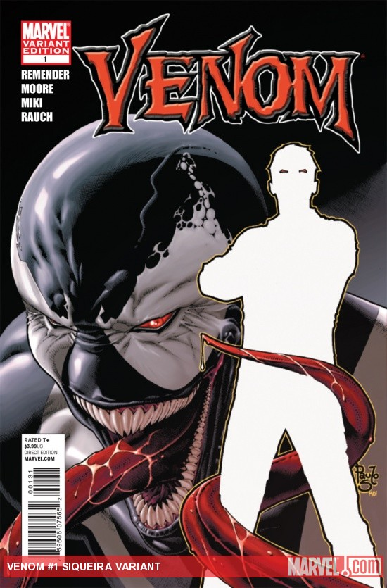 VENOM #1 (2011) variant cover by Paulo Siqueira &amp; Morry Hollowell