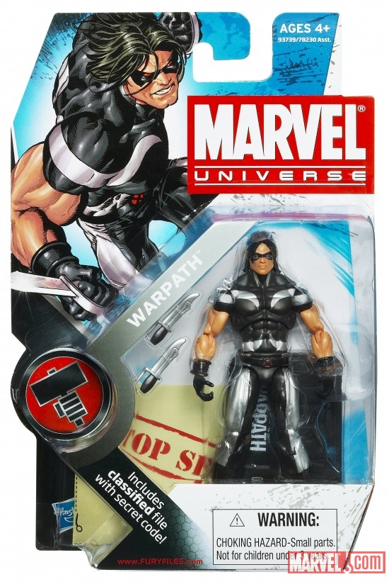 Warpath 3 3/4 Inch Marvel Universe Action Figure from Hasbro, Wave 6