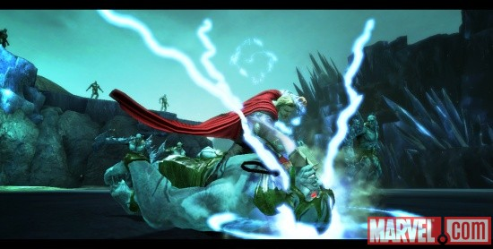 Thor: God of Thunder screenshot - Thor vs. frost giant