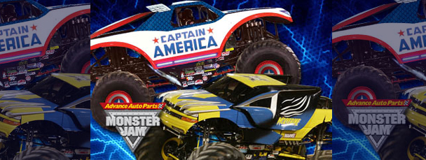 Captain America & Wolverine Monster Trucks