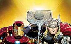 Thor and the modern-day Avengers