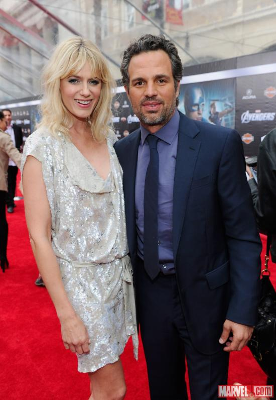 Mark Ruffalo and Sunrise Coigney on Avengers Red Carpet