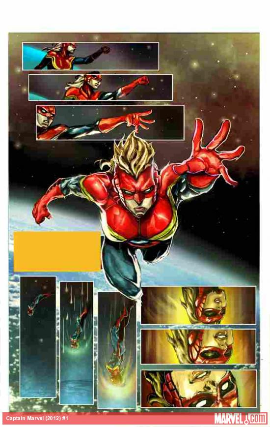 Captain Marvel (2012) #1 preview art by Dexter Soy