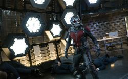 Ant-Man (Paul Rudd) stands victorious in Marvel's 'Ant-Man,' in theaters July 17