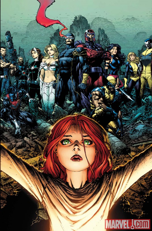 Image Featuring Emma Frost, Magik (Illyana Rasputin), Magneto, Nightcrawler, Psylocke, Rogue, Wolverine, X-Men, Cable, Sub-Mariner, Colossus, Hope Summers