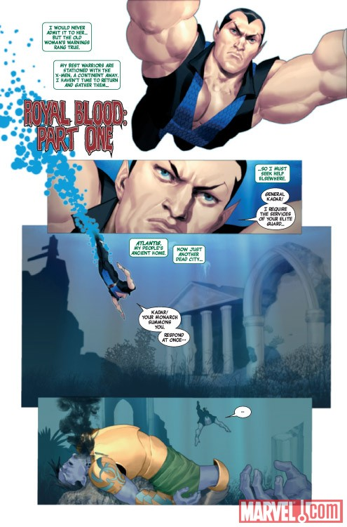 Namor: The First Mutant #1 preview art by Ariel Olivetti
