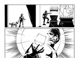 GUARDIANS OF THE GALAXY #19 black and white preview art by Wes Craig