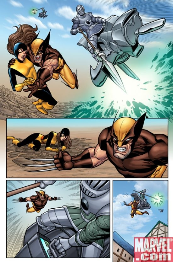 WOLVERINE: FIRST CLASS #3 preview art by Salvador Espin