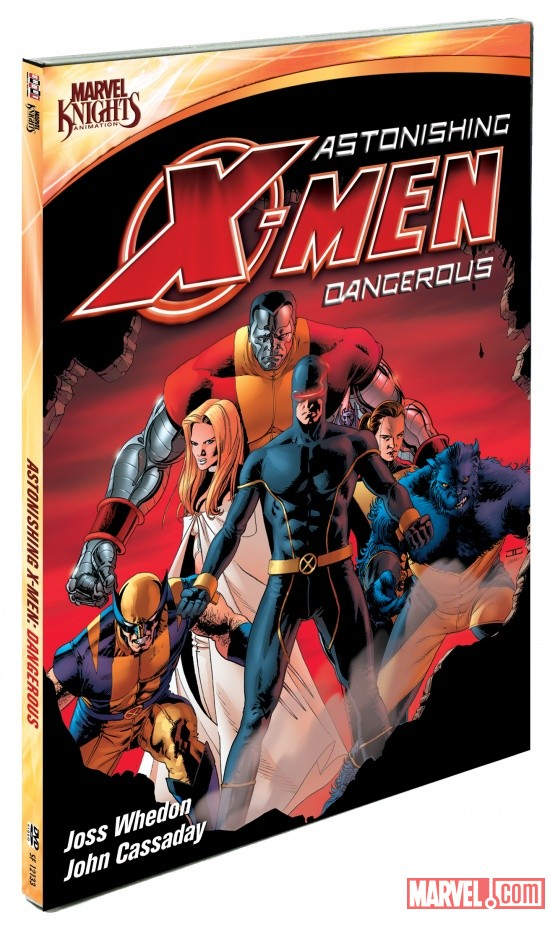 Astonishing X-Men: Dangerous DVD box art