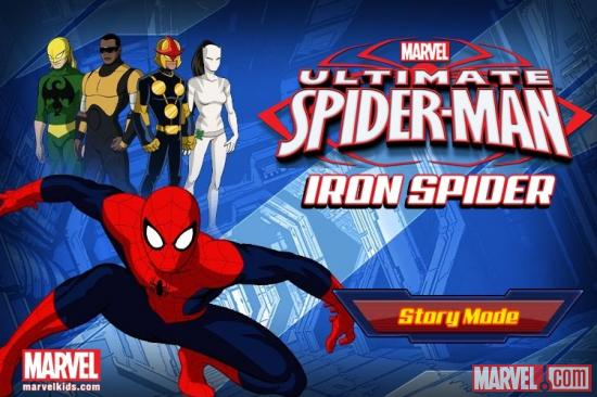 Ultimate Spider-Man: Iron Spider-Man opening screen