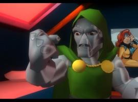 Screenshot of Doctor Doom from Marvel Super Hero Squad: The Infinity Gauntlet