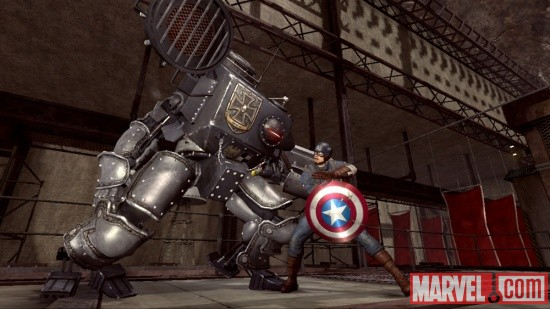 A screenshot of Cap and Iron Cross from Captain America: Super Soldier