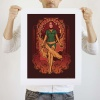 Mighty Fine: Phoenix Nouveau art print by Megan Lara