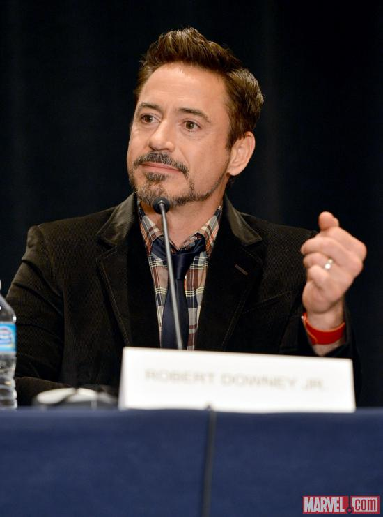 Iron Man 3 star Robert Downey, Jr. at San Diego Comic-Con 2012