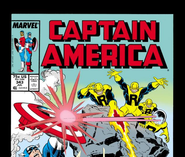 Captain America (1968) #343 Cover