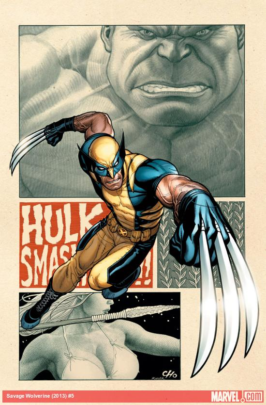 Savage Wolverine #5 cover by Frank Cho