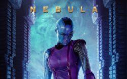 Marvel's Guardians of the Galaxy Poster featuring Nebula (Karen Gillan)